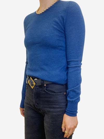 Blue cashmere and silk blend sweater - size FR 38