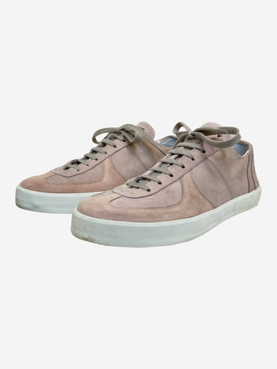Pink suede lace up trainers - size EU 39
