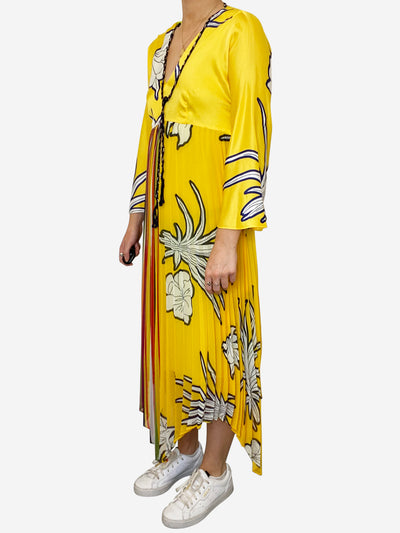 Yellow floral dress - size S-M