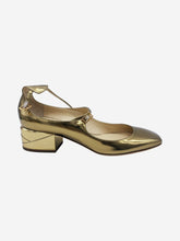 Load image into Gallery viewer, Gold Jimmy Choo Low heel, 6