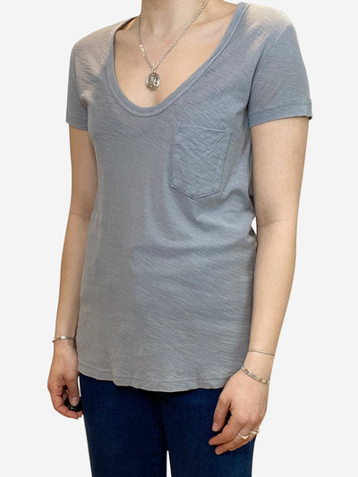 Grey t-shirt with pocket - size S