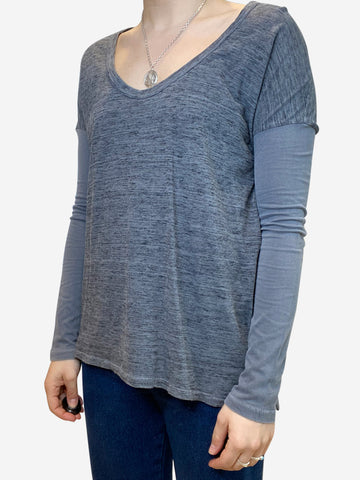 Grey long sleeve t-shirt - size S