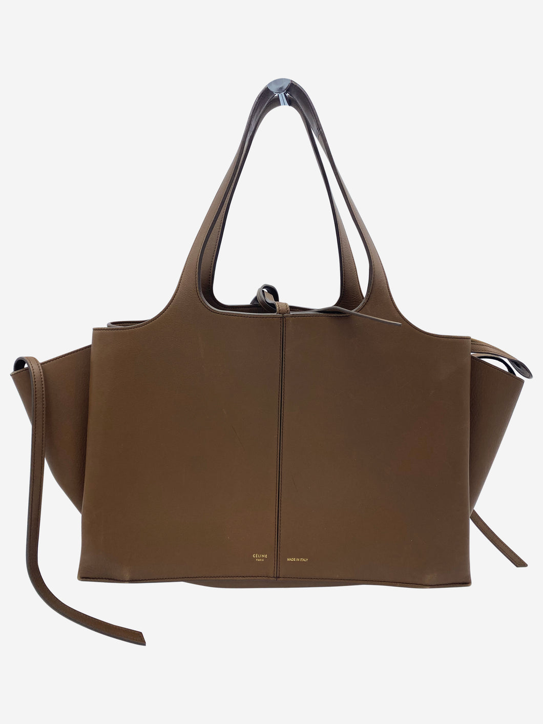 Brown tote bag with seperate built in dividers