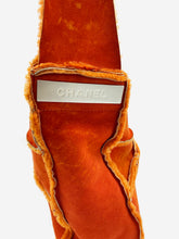 Load image into Gallery viewer, Orange Chanel Sheepskin
