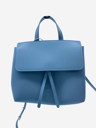 Light blue leather crossbody bag