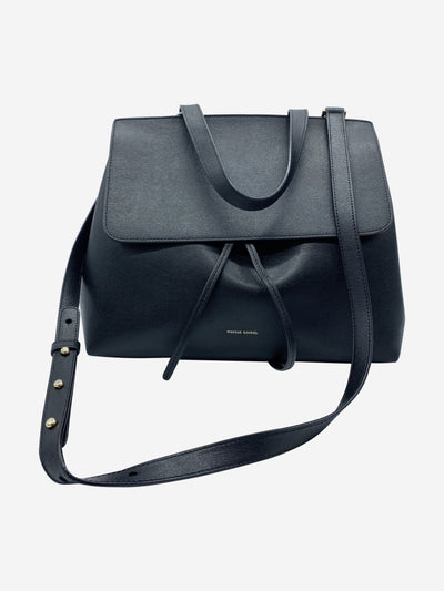 Black satchel style leather crossbody bag