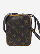 Load image into Gallery viewer, Vintage brown monogram small crossbody bag