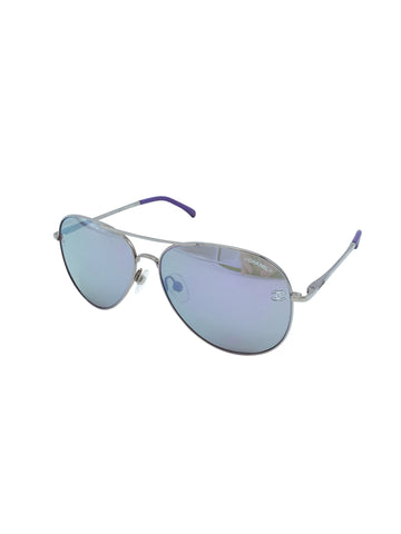Chanel Purple Mirror Pilot Aviator Sunglasses RRP: £258 Chanel - Timpanys