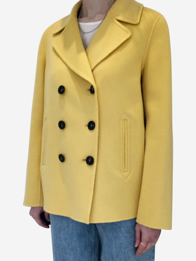 Yellow Pino pea coat - size UK 10