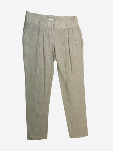 Neutral linen trousers - size UK 14