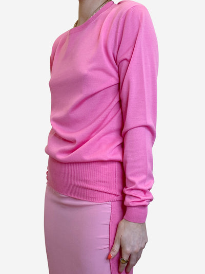 Hot pink round neck sweater - size IT 42