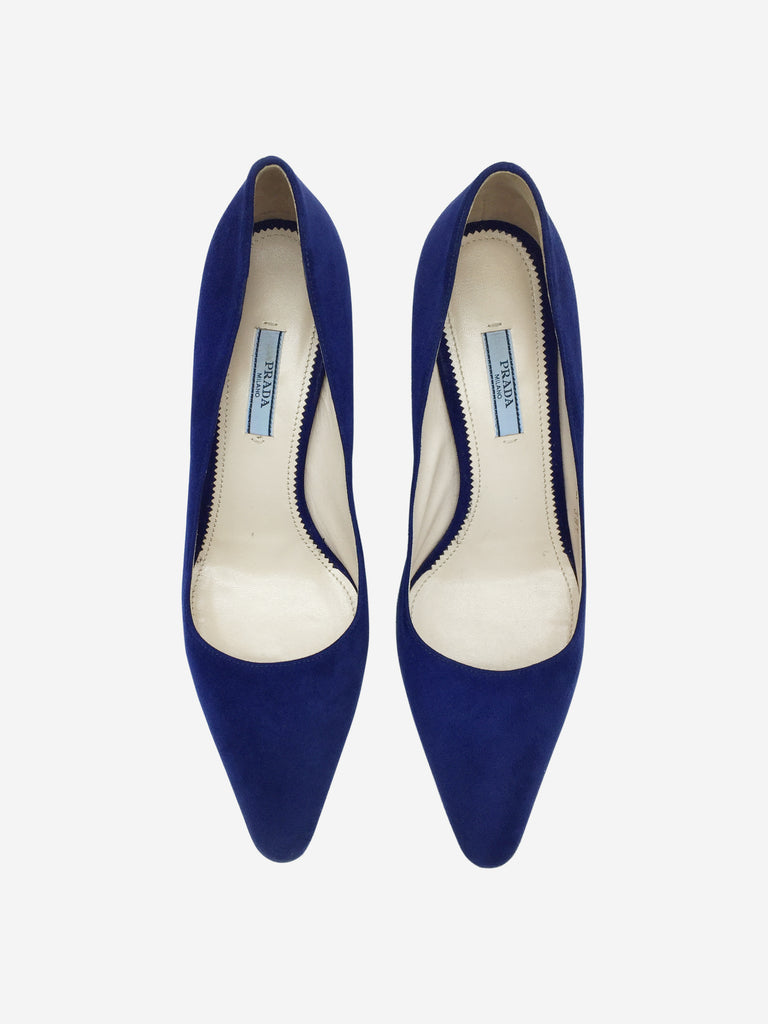 Prada Blue Suede Court Shoes Size 6.5 RRP £555 Prada - Timpanys