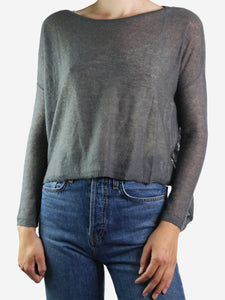 Metallic brocade lurex button through shirt - size UK 14