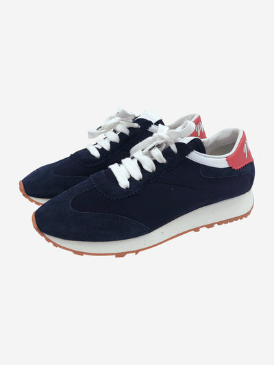 Navy, white and red trainers - size EU 39