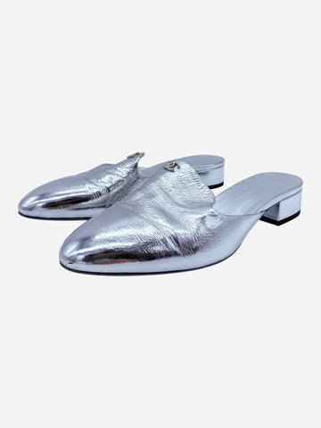 Silver Chanel Shoes, 6