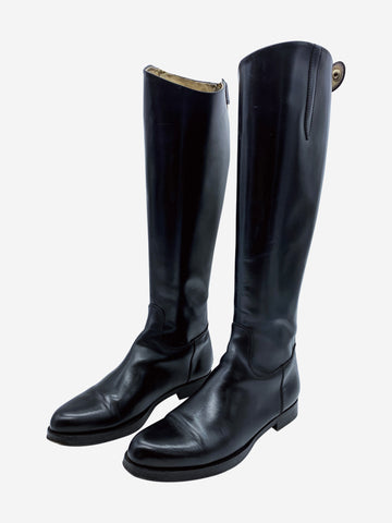 Black riding boots- size EU 36