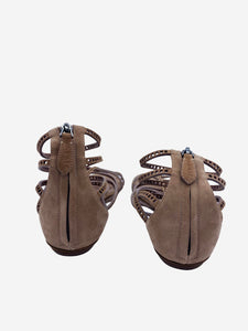 Alaia Dusty Pink suede strappy sandals - size 3