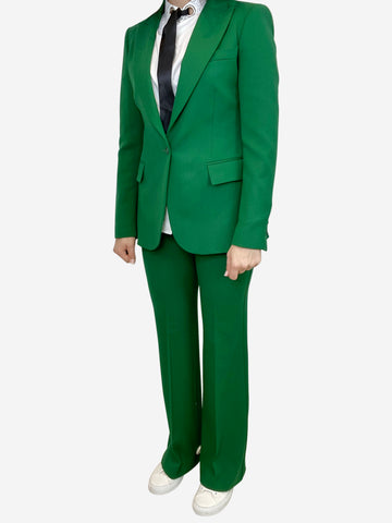 Emerald green trouser suit- size UK 10