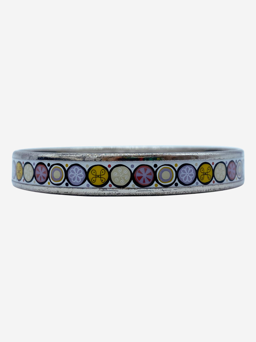 purple, white and yellow Hermes Bracelet