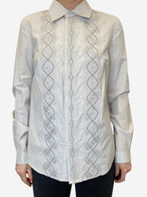 Load image into Gallery viewer, Neutral grey embroidered shirt - size FR 38