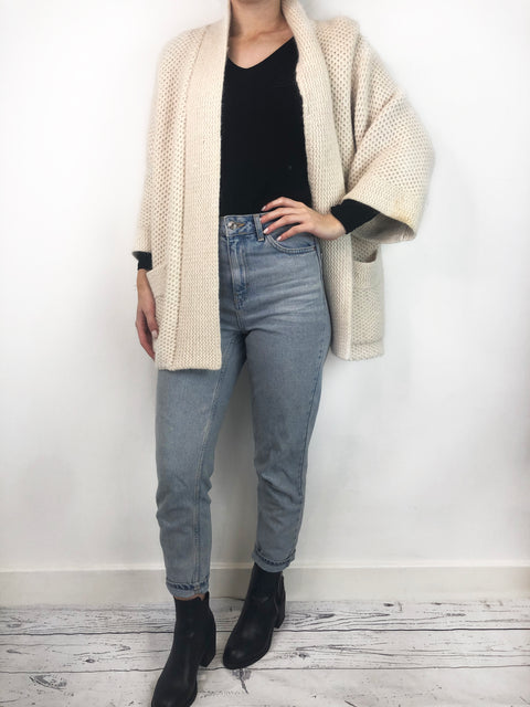 Isabel Marant Cream Wool Cardigan Size S RRP £335