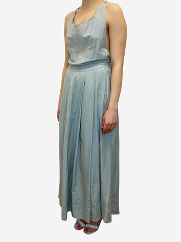 Light blue cross over strap maxi dress - size S