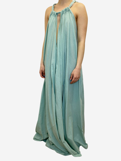 Turquoise halter-neck maxi dress - size S