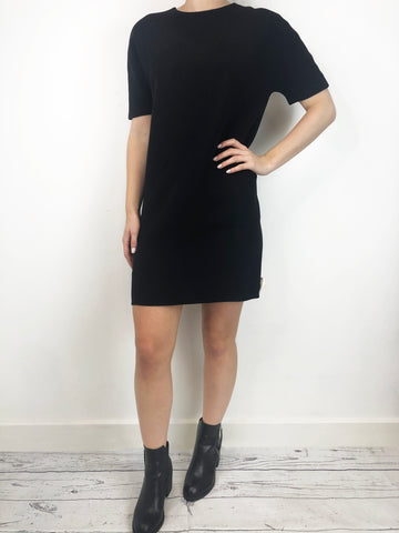 Balenciaga Black Shift Dress 10 RRP £1050