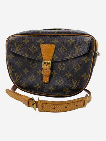 Brown monogram canvas crossbody bag