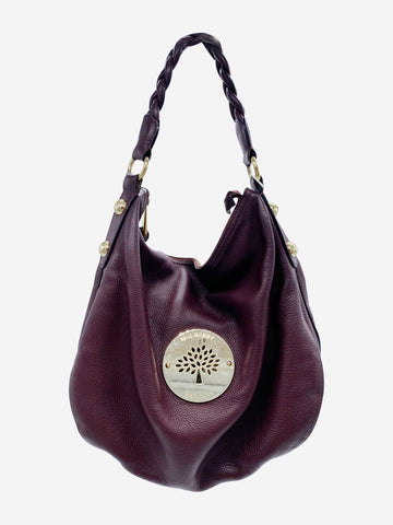 Plum boho style shoulder bag