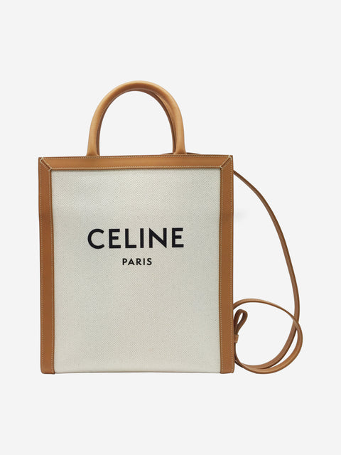 Celine Canvas + Calfskin Vertical Cabas Bag RRP Approx £1200