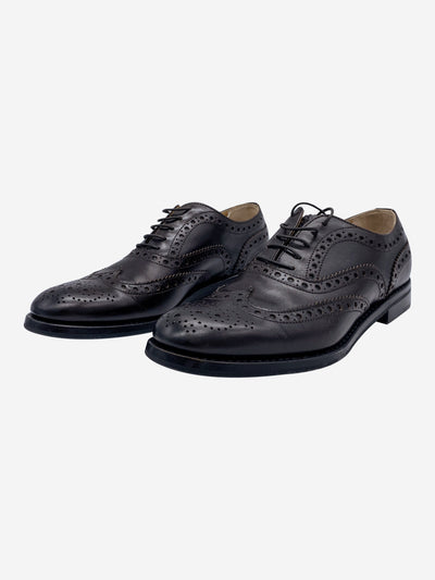 Brown 'Burwood' brogue shoes- size EU 36.5
