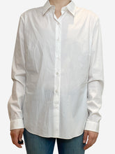 Load image into Gallery viewer, White button through shirt - size UK 18