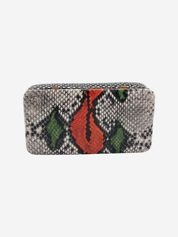 Evan snake-effect leather belt bag