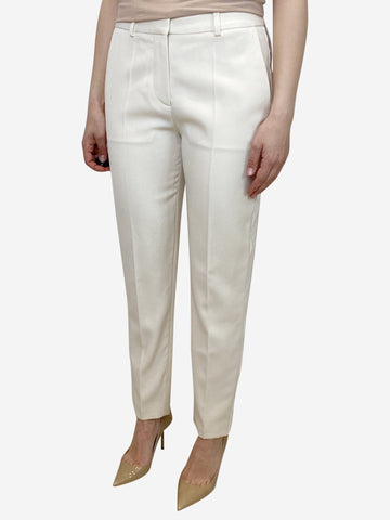Cream and white tuxedo trousers - size UK 8