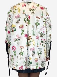 N 21 Cream and multi cream and multi floral bomber  jacket - size 10