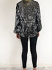 Rixo Moss Black with Silver Sequin Blouse UK M Rixo - Timpanys