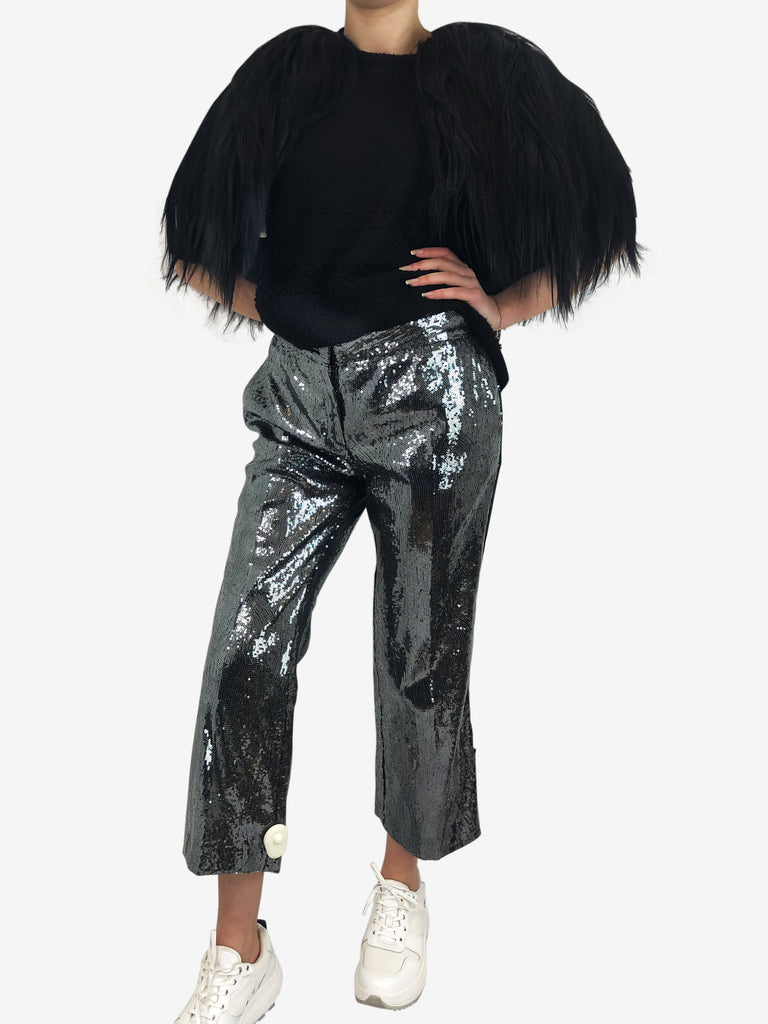 No 21 Sequin Trousers Size 12 Approx RRP £400 No 21 - Timpanys
