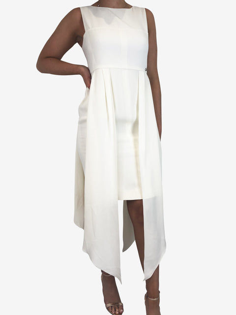 Chanel Cream Mini Drape Dress Size 14 Chanel - Timpanys