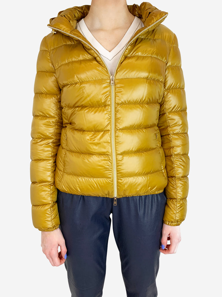 Herno gold puffer - size 8 Herno - Timpanys
