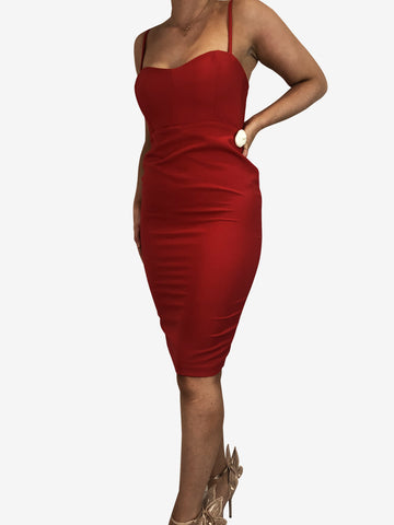 Nookie Red Bodycon Dress Size L RRP £217 Nookie - Timpanys