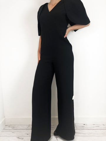 Safiyaa Black Cape Top Jumpsuit Size L RRP £1395