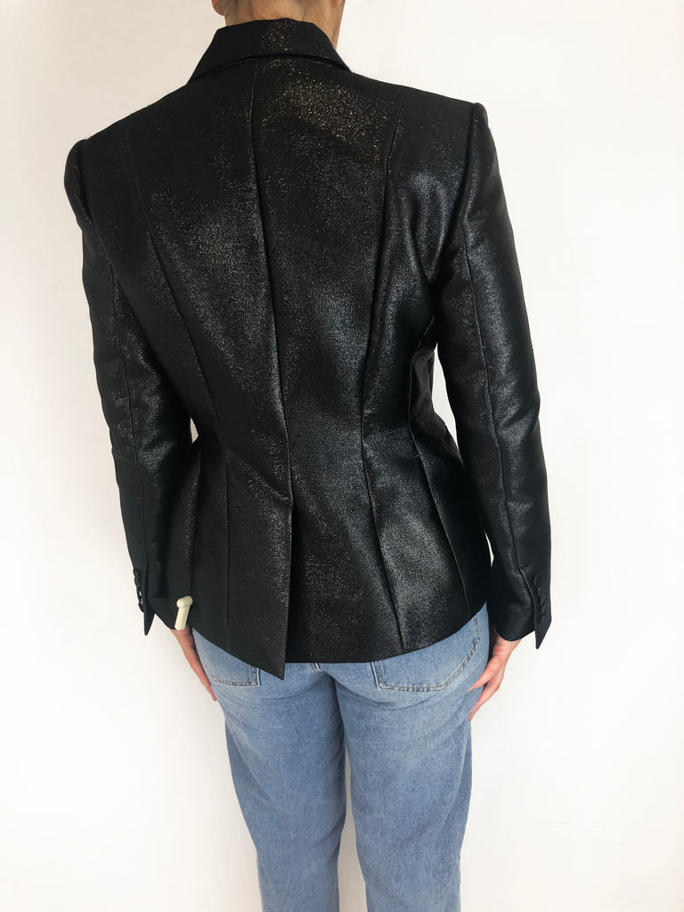 Tom Ford Black Sparkle Fitted Blazer Size L RRP £2740