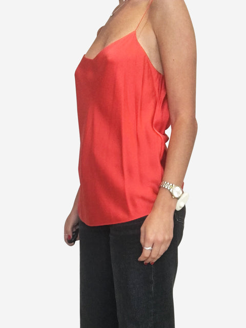 Red silk cami - size 10
