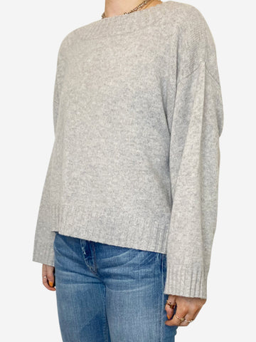 Grey high neck cashmere sweater - size S