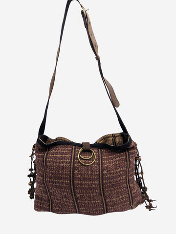 Brown Nina tassel messenger crossbody bag