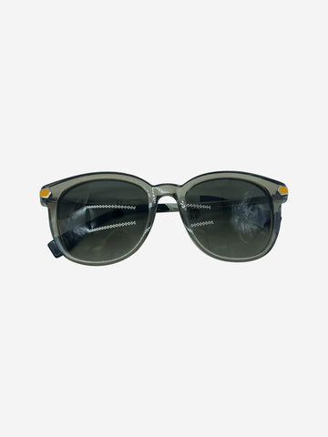 Grey and mustard perspex sunglasses