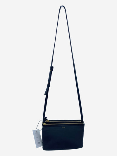 Black lambskin crossbody Trio bag