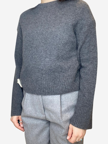 Grey cashmere crew neck sweater- size XS