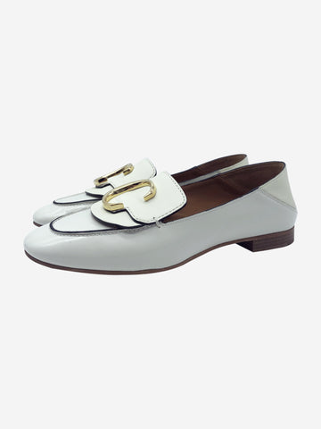 Cream low back loafers - size EU 37